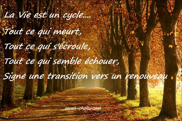 la vie est un cycle